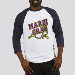Mardi Gras in Purple and Green Baseball Jersey